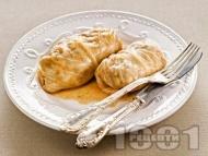 Рецепта Постни сарми с ориз, гъби и праз лук